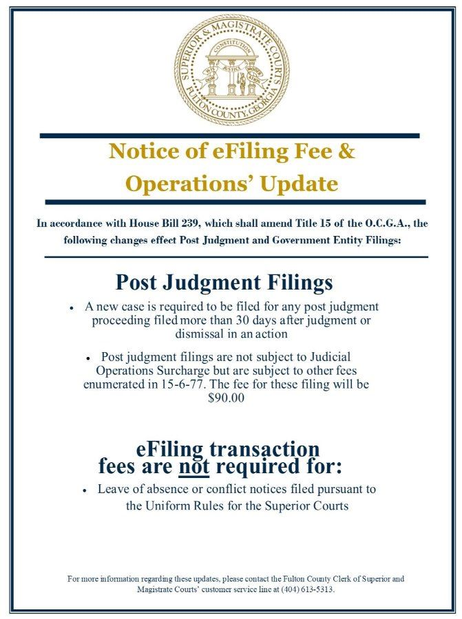 Notice of Fee and Operations Update 6-12-2019 HB 239